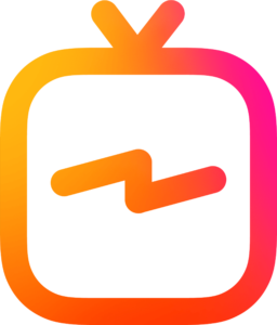 This is an icon of a TV representing Instagram TV