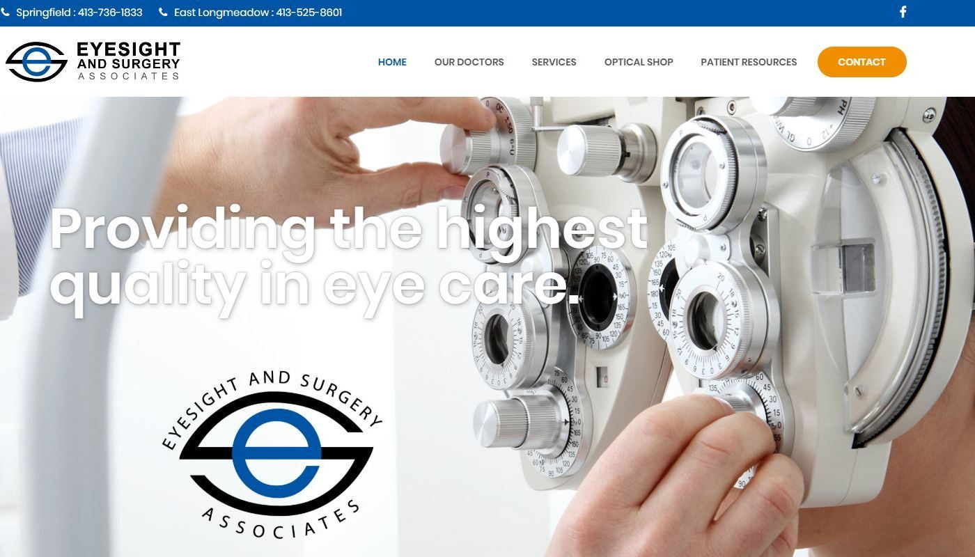 Eyesight Surgery Website Design CT