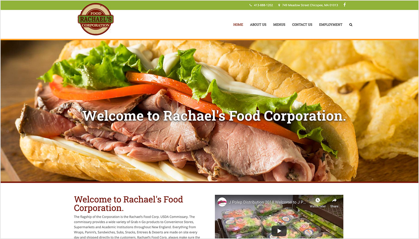 Rachael's-Food-Corporation-Custom-WordPress-Website-Design