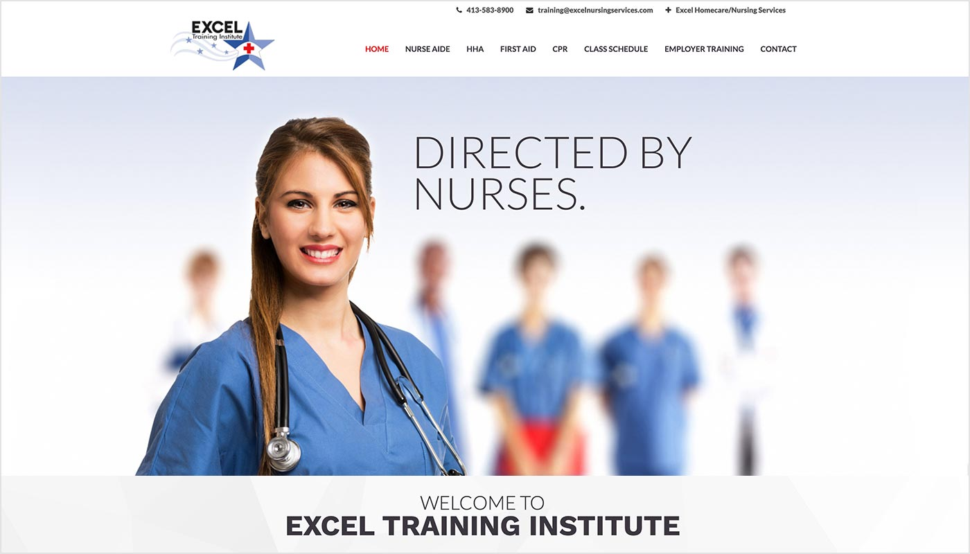 Excel-Nursing-Ludlow-MA-Custom-WordPress-Website