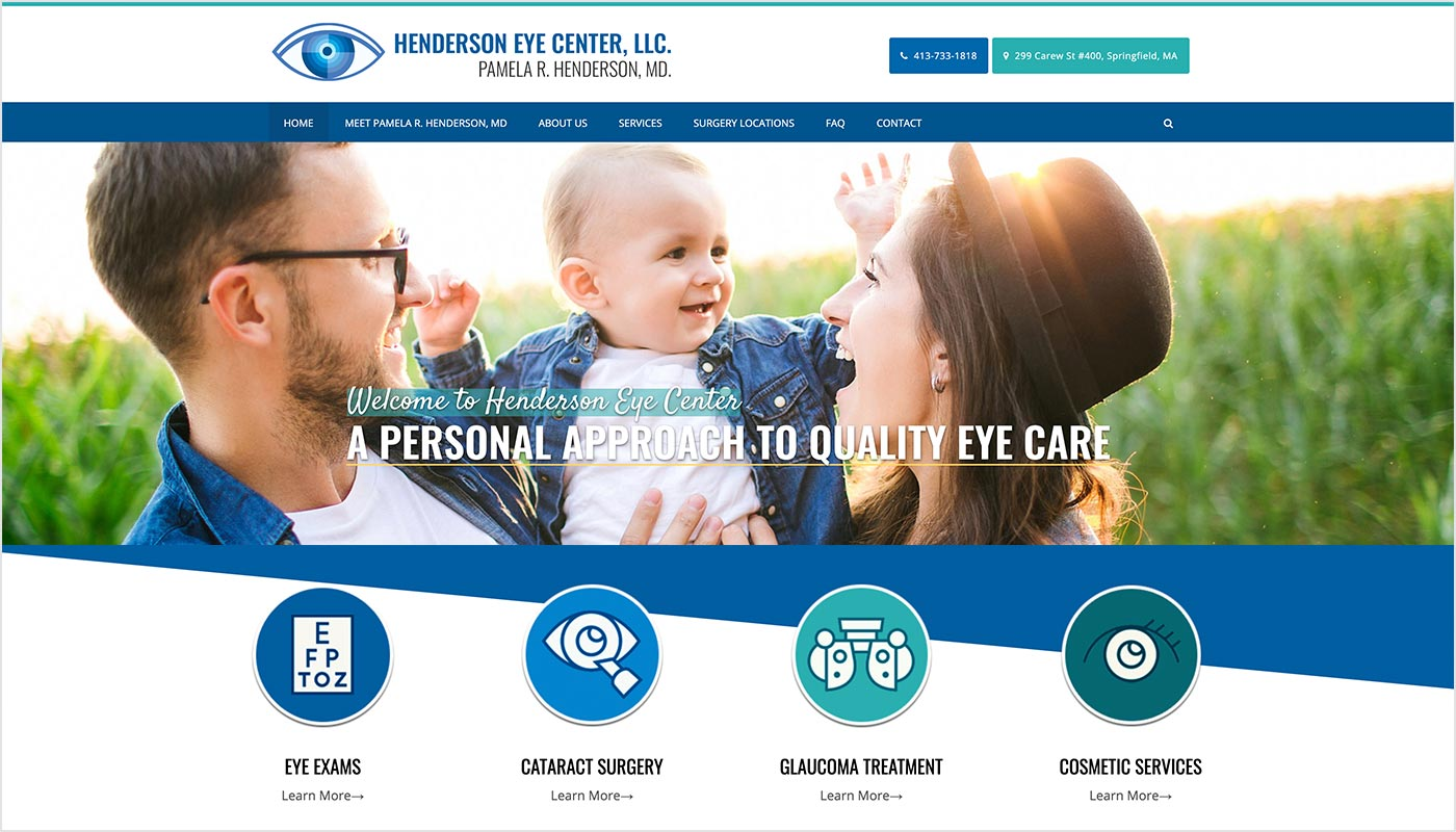 Henderson-Eye-Center-Springfield-MA-Custom-WordPress-Website