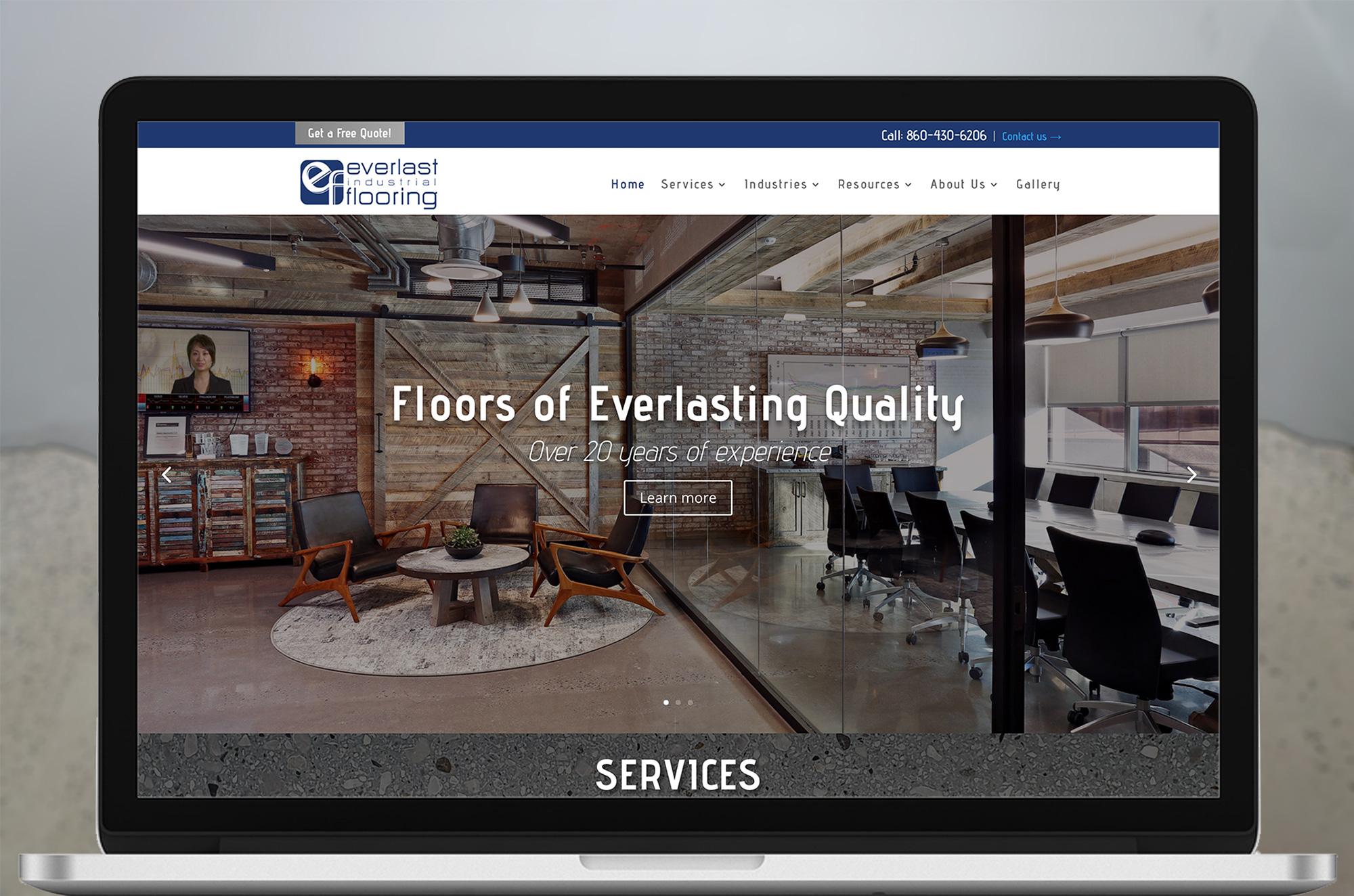 Everlast Industrial Flooring Web Design