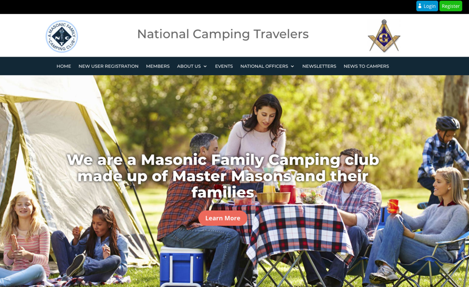 National Camping Travelers website, web design Western MA, web design CT, marketing agency, graphic design company, branding