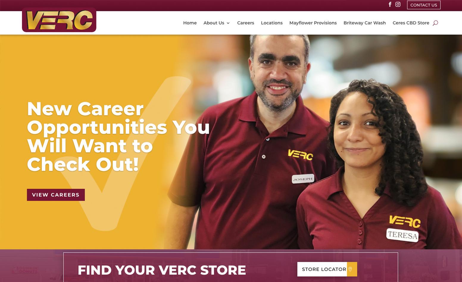 VERC Enterprises Inc Website, Website Design Massachusetts, Marketing Agency Massachusetts, Graphic Design Massachusetts, Logo Design Massachusetts