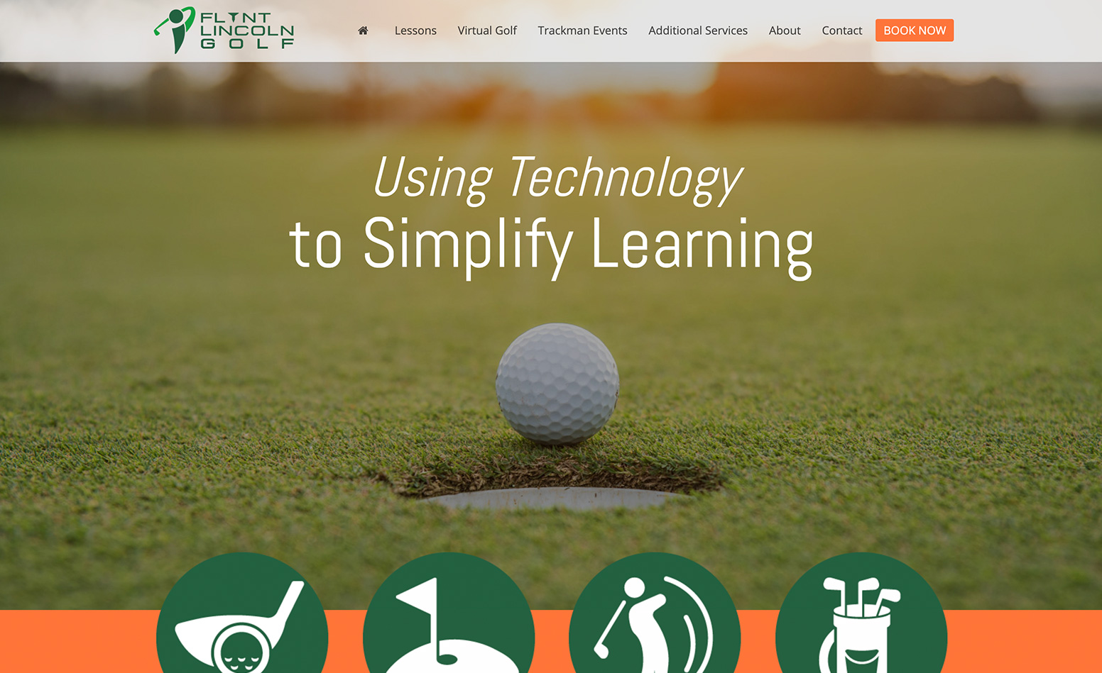 Flynt Lincoln Golf custom website design, custom website design Western MA, web designer Northern CT, logo design CT